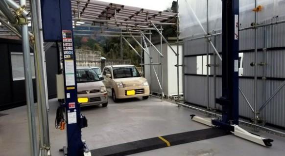 広島県 H様邸 アルティア製 ワイド2柱リフト納品設置