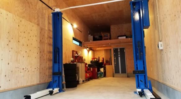 愛知県 N様邸 ビシャモン製 門型アーチリフト納品設置