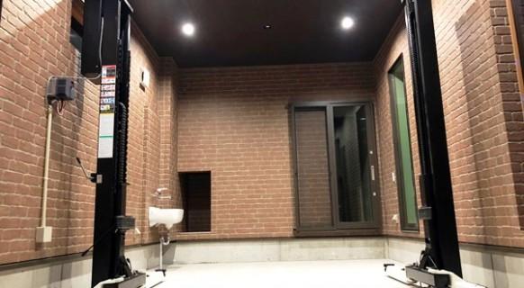 兵庫県 O様邸 ビシャモン製 2柱リフト納品設置 埋設