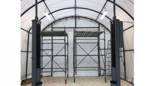 愛媛県 K様邸 バンザイ製 門型ゲイトリフト 納品設置