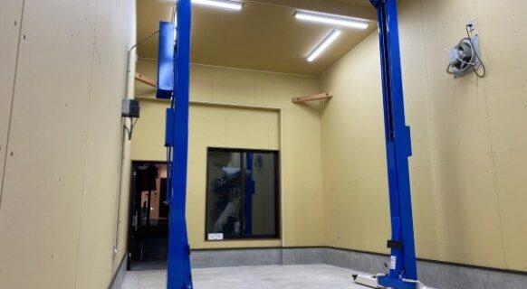岐阜県 Y様邸 ビシャモン製 (新品)門型2柱リフト納品設置
