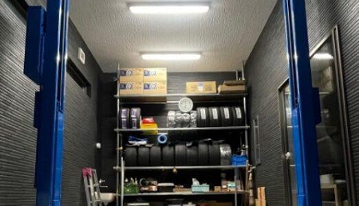 大阪府 N様邸 ビシャモン製 新品 門型2柱リフト納品設置
